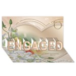 Our Engagement 3D card - ENGAGED 3D Greeting Card (8x4)