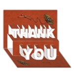 THANK YOU 3D Card (7x5) - thankful1 - THANK YOU 3D Greeting Card (7x5)