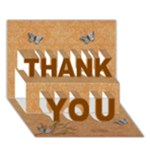 THANK YOU 3D Card (7x5) : thankful2 - THANK YOU 3D Greeting Card (7x5)