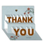 THANK YOU 3D Card (7x5) : thankful3 - THANK YOU 3D Greeting Card (7x5)