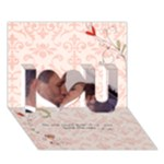 The way I love you card - I Love You 3D Greeting Card (7x5)