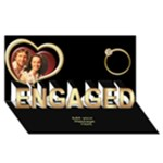 Our Engagement Card 3D - ENGAGED 3D Greeting Card (8x4)