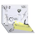 Notebook Sketch Card - I Love You 3D Greeting Card (7x5)