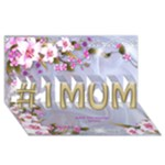 No1 MUM 3D Card - #1 MOM 3D Greeting Cards (8x4)
