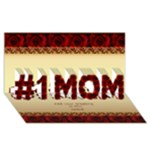 no1 Mom in roses 3D Card - #1 MOM 3D Greeting Cards (8x4)