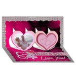 You re My Heart & Soul twin heart 3d card - Twin Hearts 3D Greeting Card (8x4)