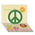 Happy - Peace Sign 3D Greeting Card (7x5)