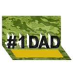 #1 DAD 3D Card (8x4), Camo-Hunting - #1 DAD 3D Greeting Card (8x4)