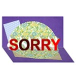 sorry - SORRY 3D Greeting Card (8x4)