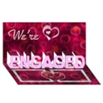 It s Official - We re Engaged 3d card - ENGAGED 3D Greeting Card (8x4)
