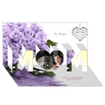 I love you Mum 3D Card - MOM 3D Greeting Card (8x4)