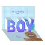 Photo Front Boy 3D Card - BOY 3D Greeting Card (7x5)