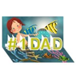 dad card - #1 DAD 3D Greeting Card (8x4)