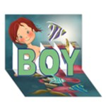 boy - BOY 3D Greeting Card (7x5)
