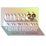 Save a prince, kiss a frog - Happy Birthday 3D Greeting Card (8x4)
