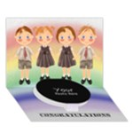CONGRATULATIONS - Circle Bottom 3D Greeting Card (7x5)