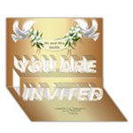 Wedding Invitation 3D Card (7x5) - YOU ARE INVITED 3D Greeting Card (7x5)