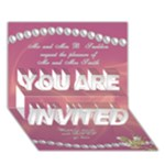 Our Wedding Invitation 3D card (7x5) - YOU ARE INVITED 3D Greeting Card (7x5)