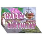 Hydranga 3D happy birthday Card - Happy Birthday 3D Greeting Card (8x4)