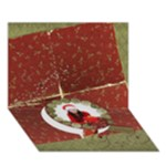 Christmas Wreath-Holidays 3D circle bottom card - Circle Bottom 3D Greeting Card (7x5)