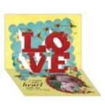 LOVE-poem, 3D LOVE card - LOVE 3D Greeting Card (7x5)