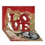 LOVE 3D card, father s day-mothers day-any theme - LOVE 3D Greeting Card (7x5)