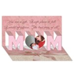 I Love You Mom pink bird cage - MOM 3D Greeting Card (8x4)