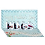 Mothers Day Hugs & Kisses 3D Card - HUGS 3D Greeting Card (8x4)
