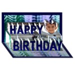 My Boy 2 3D Birthday Card - Happy Birthday 3D Greeting Card (8x4)