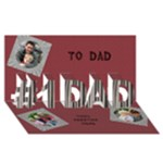 Our Dad 3D Card - #1 DAD 3D Greeting Card (8x4)