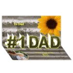 My Dad 3D card - #1 DAD 3D Greeting Card (8x4)