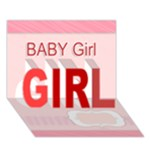 baby girl - GIRL 3D Greeting Card (7x5)