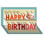 halo baby - Happy Birthday 3D Greeting Card (8x4)