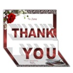 Thank you to a Lady 3D card - THANK YOU 3D Greeting Card (7x5)