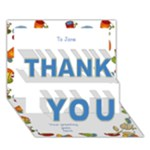 Thank you Come for coffee 3D card - THANK YOU 3D Greeting Card (7x5)