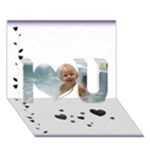Just Splash3 - 3d card - I Love You 3D Greeting Card (7x5)