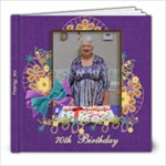 70th Birthday - 8x8 Photo Book (20 pages)