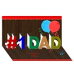Number 1 Dad 3d Card - #1 DAD 3D Greeting Card (8x4)