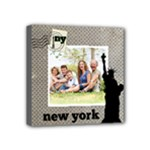 New York City - Family Vacation Wall Art - Mini Canvas 4  x 4  (Stretched)
