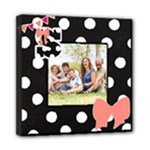 Polka Dot Bow Canvas - Mini Canvas 8  x 8  (Stretched)