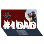 3d Card: Dad- red and blue - #1 DAD 3D Greeting Card (8x4)