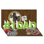 jimmy fatherday - #1 DAD 3D Greeting Card (8x4)