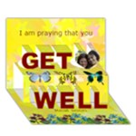 Butterfly get well - Get Well 3D Greeting Card (7x5)