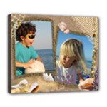Our Holiday Deluxe Stretched 24x20 Canvas - Deluxe Canvas 24  x 20  (Stretched)