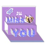 card for hannah - Miss You 3D Greeting Card (7x5)