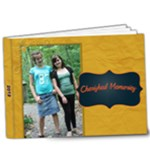 gold and navy - 9x7 Deluxe Photo Book (20 pages)