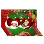 Christmas Heart 3D Card 2018 - Twin Hearts 3D Greeting Card (8x4)