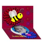 Happy Birthday Baybee - Circle Bottom 3D Greeting Card (7x5)