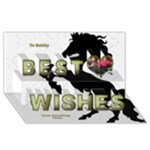 My Stud 3D Best Wishes Card - Best Wish 3D Greeting Card (8x4)