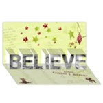 crd1234 - BELIEVE 3D Greeting Card (8x4)